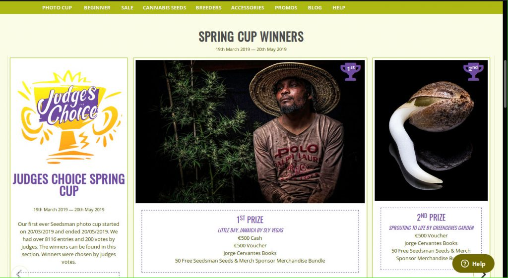 Spring Photo Cup Winners Cannabis Seeds
