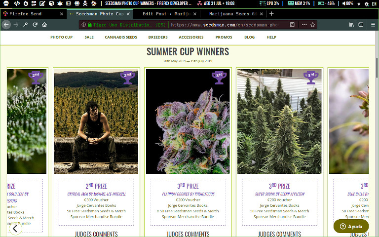 judges choice 2nd 3rd place prize winners cannabis cup